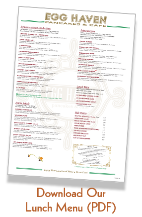 Link to our lunch menu PDF